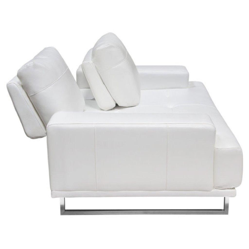 Diamond Sofa Russo Sofa  White Air  Leather