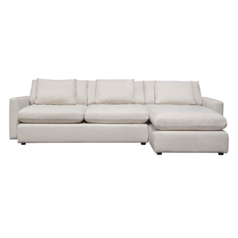Diamond Sofa Arcadia 2PC Reversible Sectional Cream Fabric
