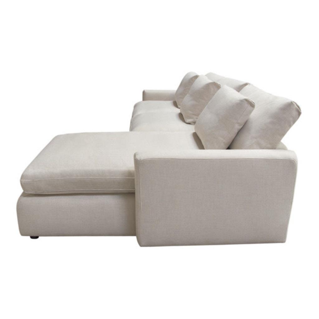 Diamond Sofa Arcadia 2PC Reversible Sectional Cream Fabric