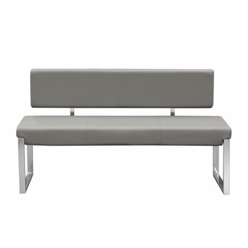 Diamond Sofa Knox Bench Grey w / Back