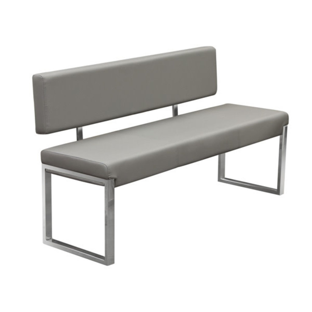 Diamond Sofa Knox Bench Grey w / Back