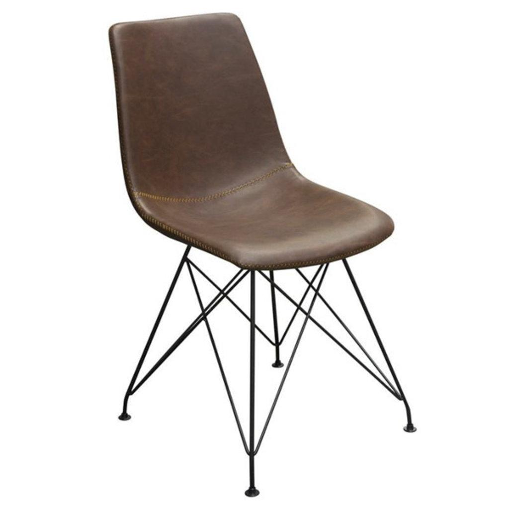 Diamond Sofa Theo Dining Chair Chocolate PU/Black Base