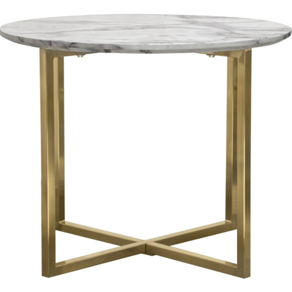 Diamond Sofa Vida End Table Faux Marble
