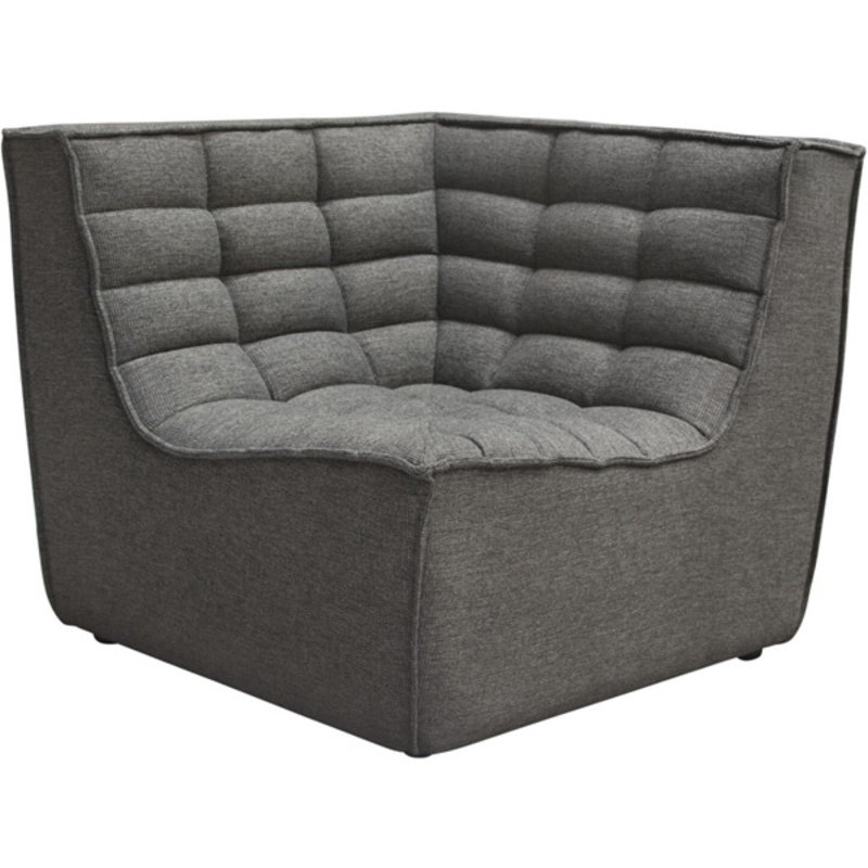 Diamond Sofa Marshall Grey Fabric Scoop Sq Corner