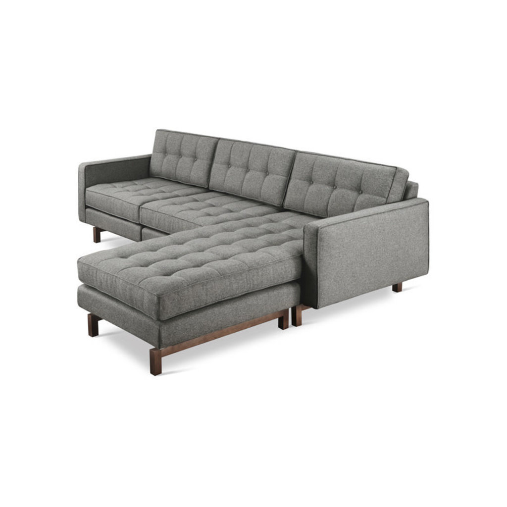 Gus Modern Jane 2 Bi- Sectional Parliament Stone Walnut finish