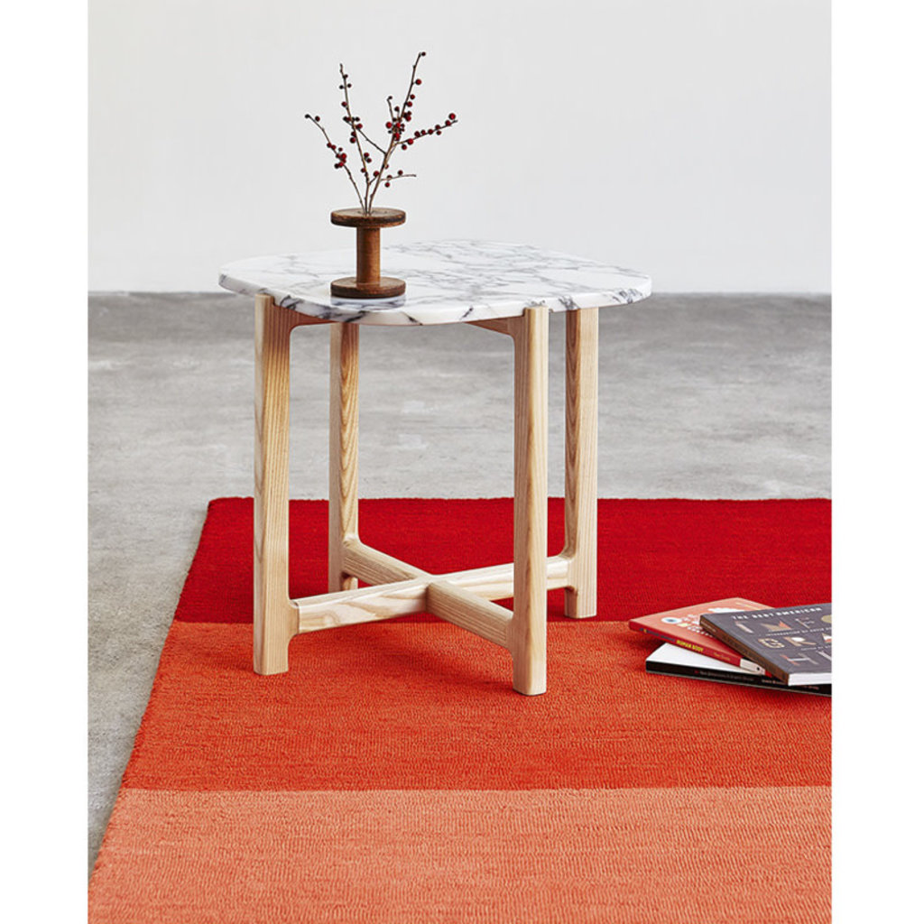 Gus Modern Quarry End Table Bianca Marble