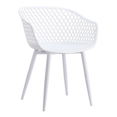 Moe's Home Collection Piazza Outdoor Chair White-M2