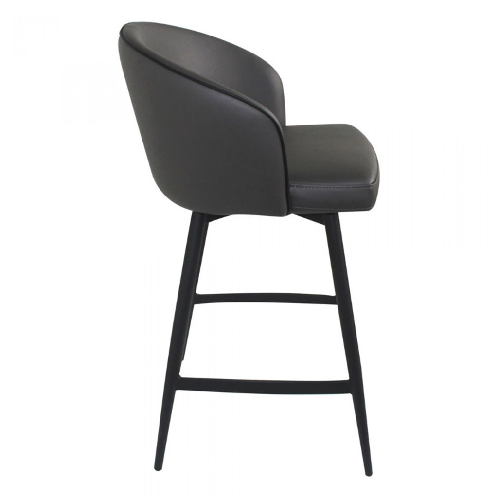 Moe's Home Collection Webber Swivel Counter Stool Charcoal