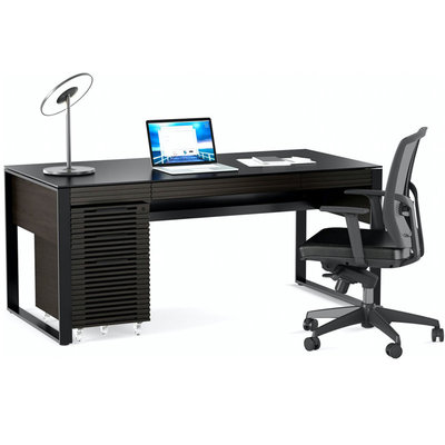 BDI Corridor Desk Charcoal Stained Ash