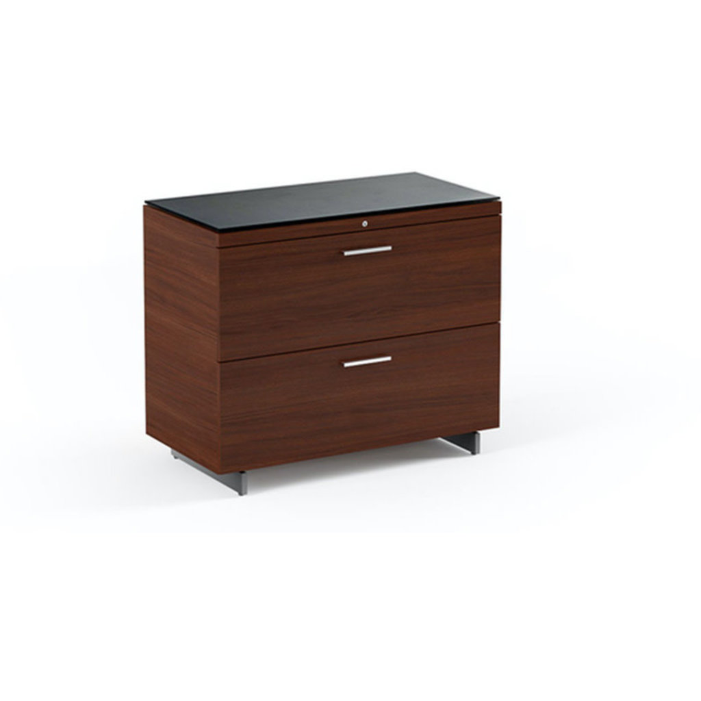 BDI Sequel Lateral File Cabinet Chocolate Stained Walnut