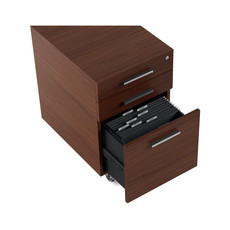 BDI Sequel Low Mobile File Cabinet Chocolate Stained Walnut