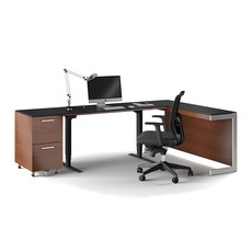BDI Sequel Lift Desk Chocolate Stained Walnut