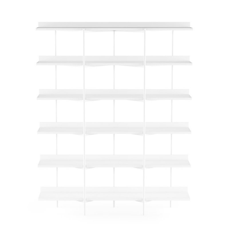 BDI Kite Six ­Tier Shelf  Satin White