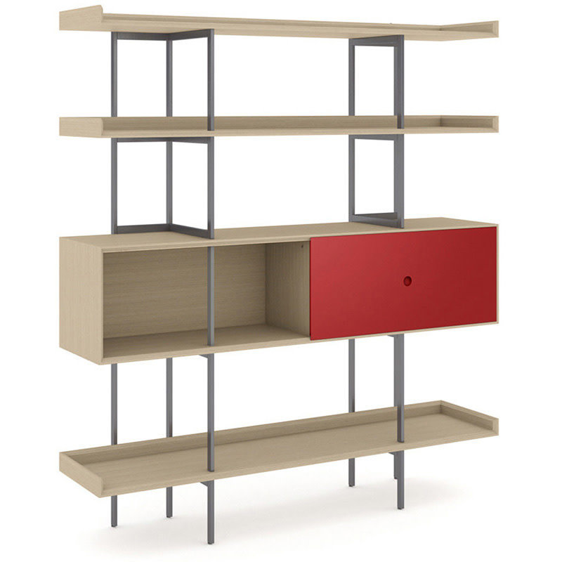 BDI Margo Shelf Kit Drift Oak, Grey Shelf Kit