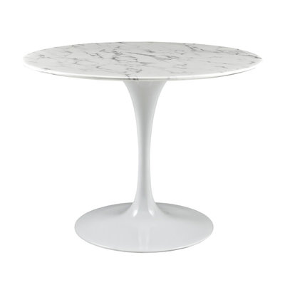 """Modway Lippa 40"""" Round Faux Marble Dining Table"""