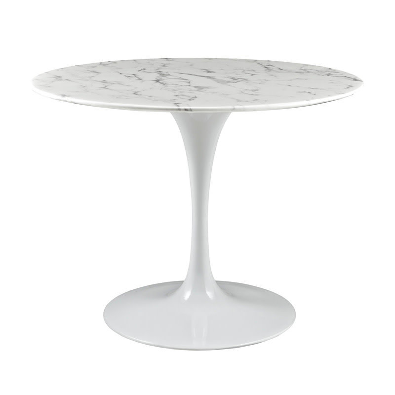 "Modway Lippa 40"" Round Faux Marble Dining Table"