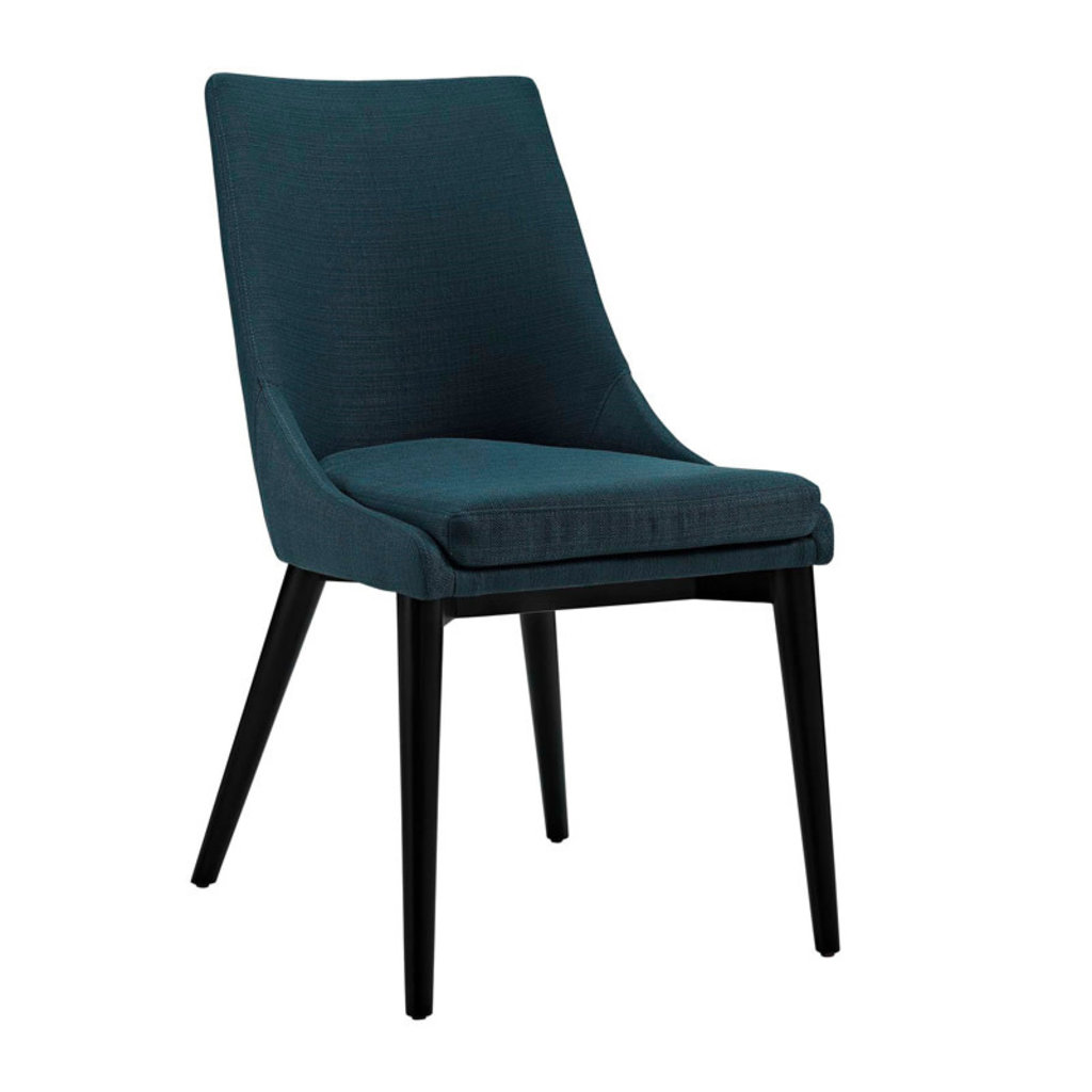 Modway Viscount Fabric Dining Chair in Azure