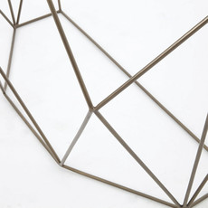 Four Hands Geometric Console Table-Antique Brass