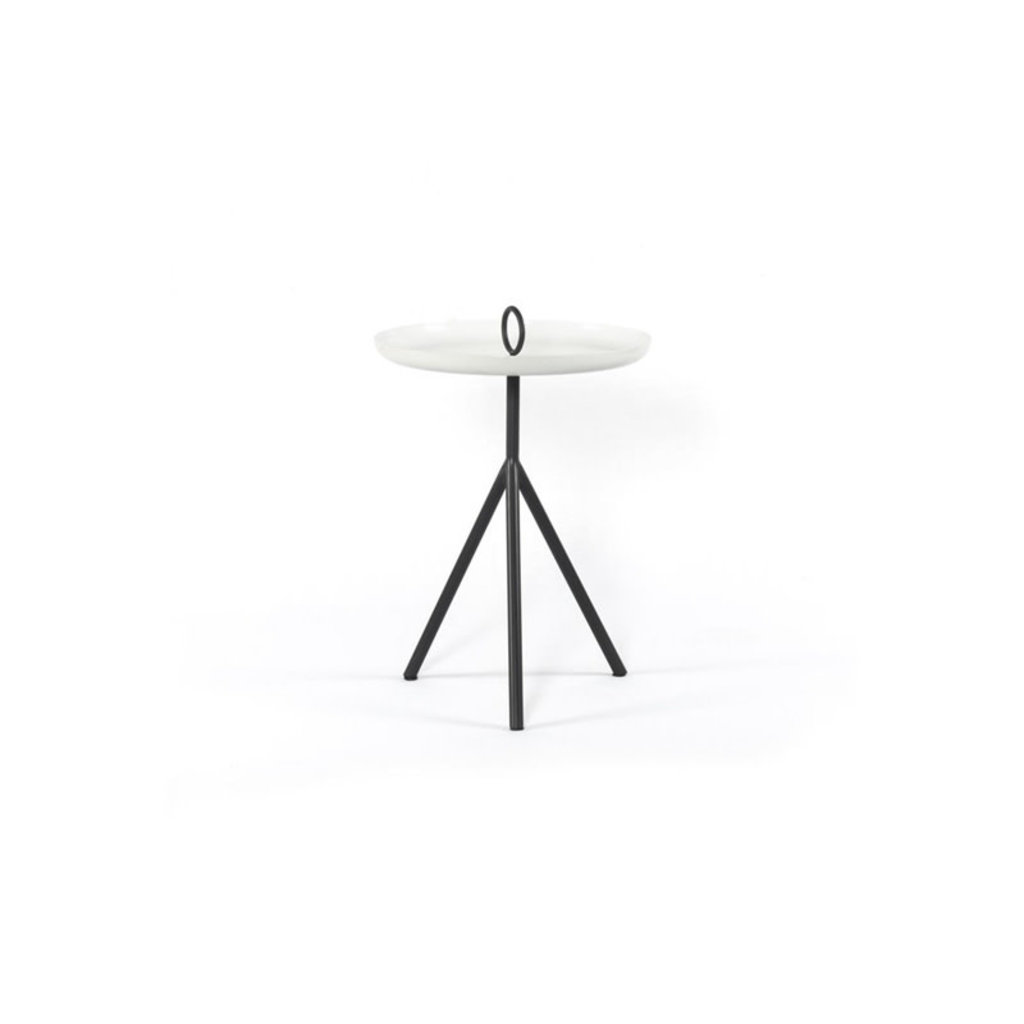 Four Hands Alora End Table-Charcoal