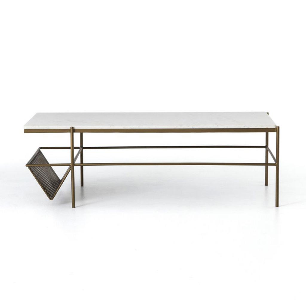 Four Hands Felicity Coffee Table-Iron Matte Brass