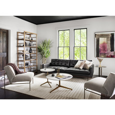 Four Hands Lexi 2 Pc Sectional-Raf Chaise  Black