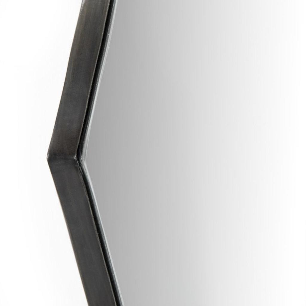 Four Hands Perla Mirror-Slate Aluminum