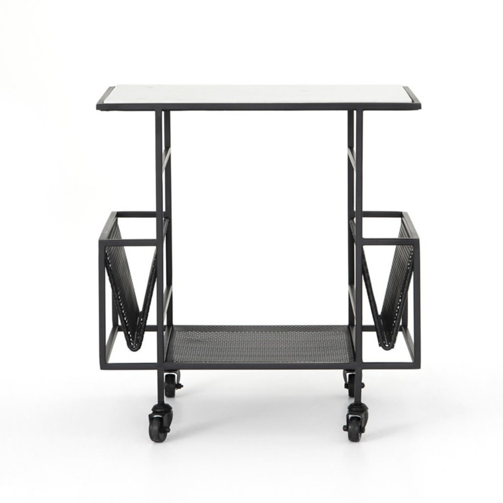 Four Hands Felicity Rolling End Table-Bronze