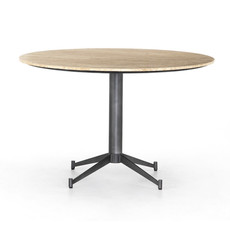Four Hands Lansbury Round Dining Table-Polished