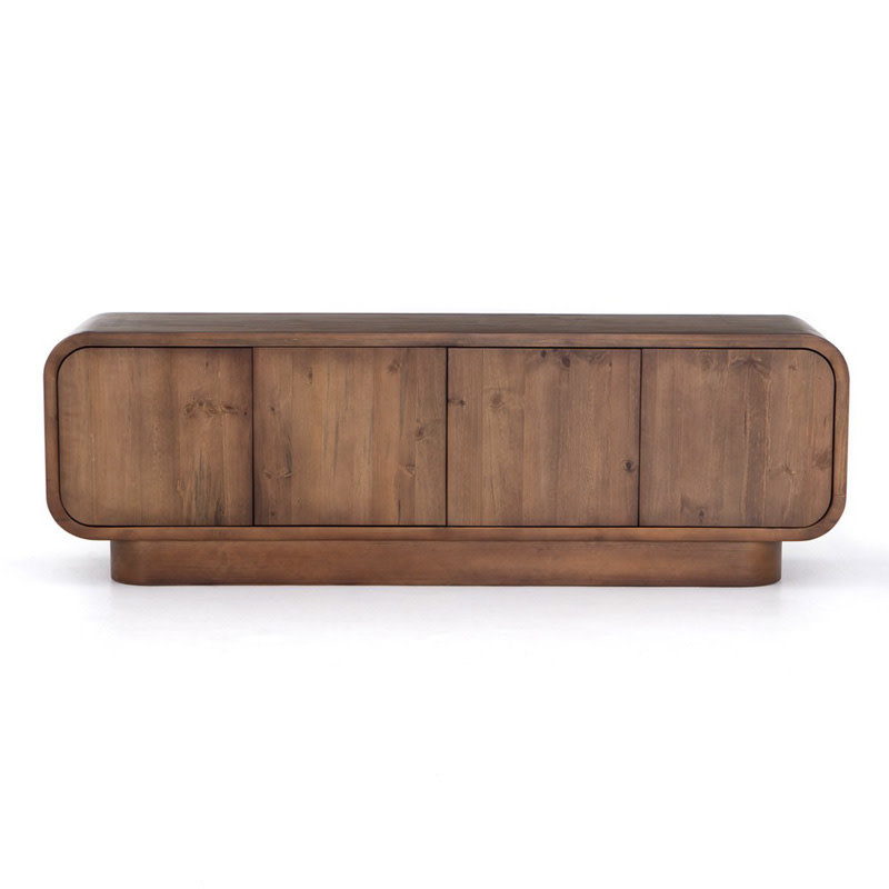 Four Hands Santo Rounded Media Console-Amber Pine
