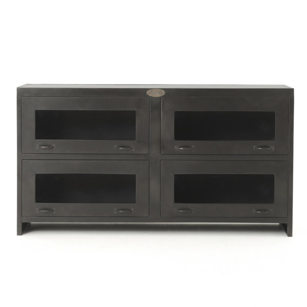 Four Hands Rockwell Media Cabinet-Antique Iron