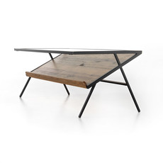 Four Hands Mondrian Coffee Table-Light Honey