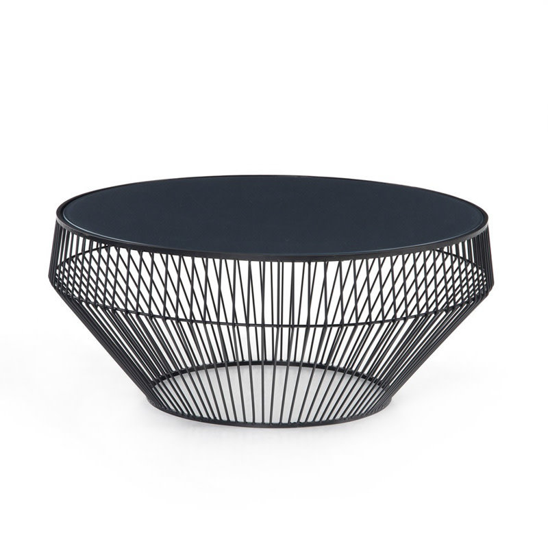 Four Hands Antonio Coffee Table-Iron Matte Black