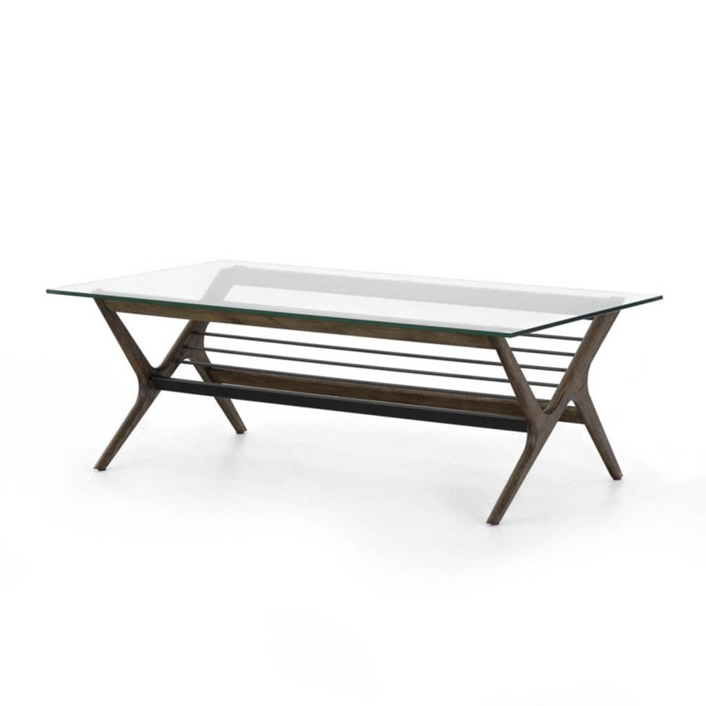 Four Hands Subra Coffee Table-Dark Hazel