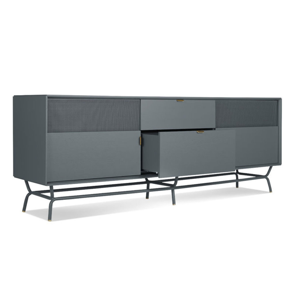 BluDot Dang 2 Door / 2 Drawer Console Marine Blue