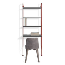 BluDot Hitch Bookcase and Desk Red/Black
