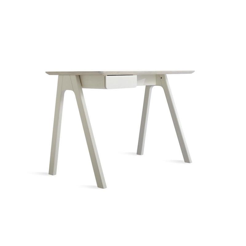 BluDot Stash Desk Whitewashed Ash / White