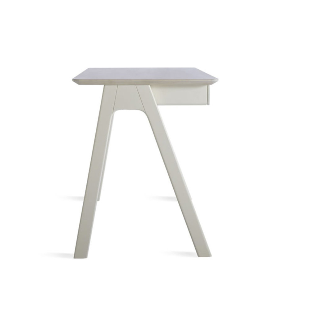 BluDot Stash Desk Whitewashed Ash / White