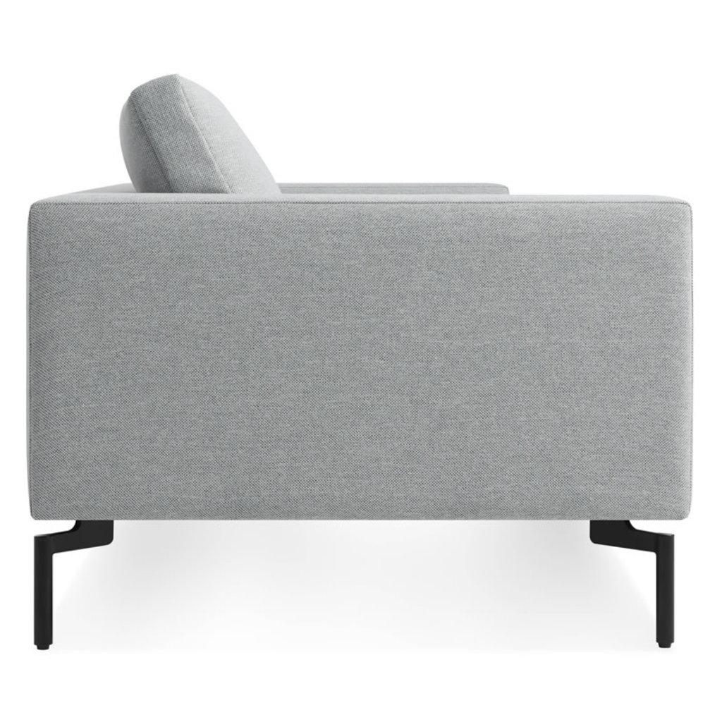"BluDot New Standard Sofa 92"" Maharam in Intaglio Fabric Black Legs"