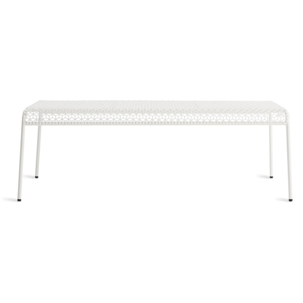 BluDot Hot Mesh Bench Off White