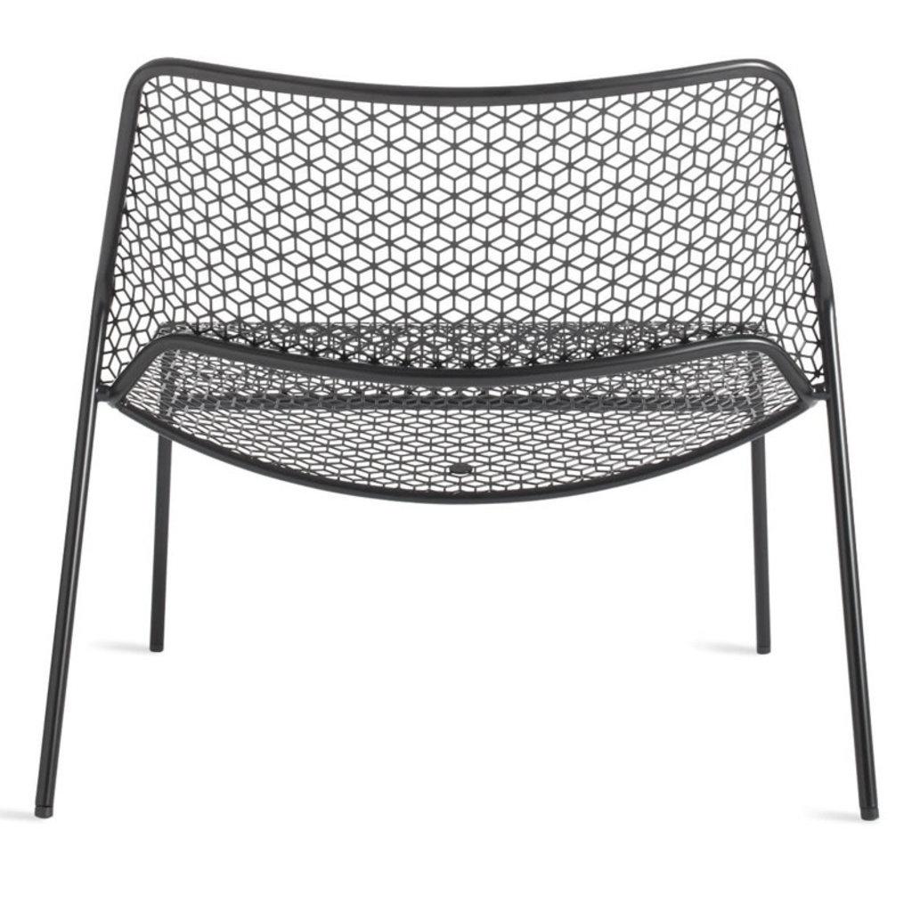BluDot Hot Mesh Lounge Chair Black