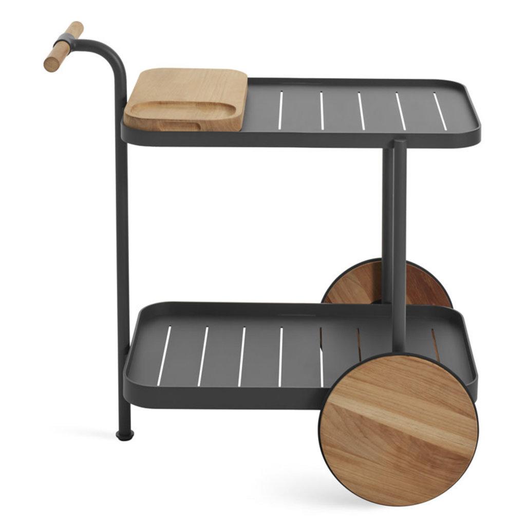 BluDot Longday Bar Cart Carbon
