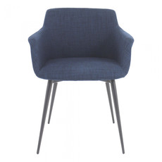 Moe's Home Collection Ronda Arm Chair Blue-M2