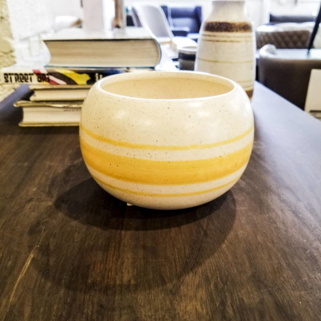 Yellow White Bowl