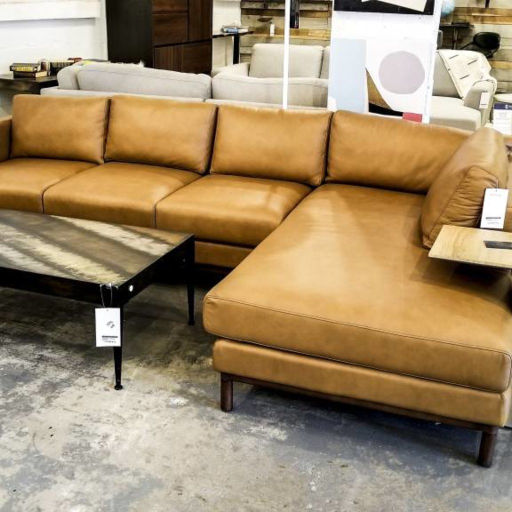 One for Victory Freehand Sectional Right Arm Chaise - Plunge Ginger