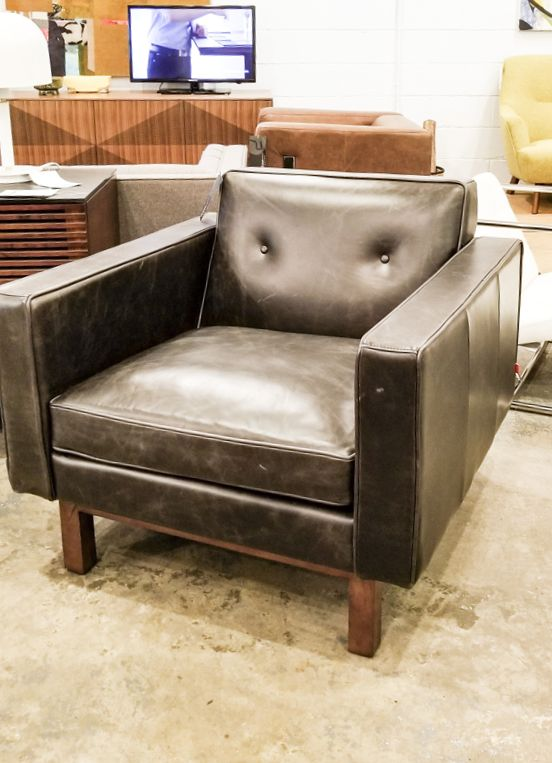Gus Design Group Inc Embassy Chair Saddle Black Leather