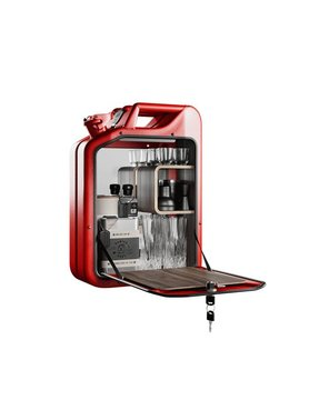 Fashion Metal CO Jerry Can Bar Cabinet Red
