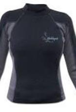 Stohlquist 1mm CoreHEATER Shirt, Women's, Black/Gray
