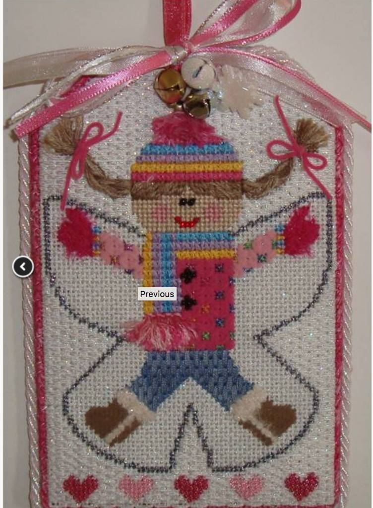 Girl Angel Tag Ornament- Not Stitched