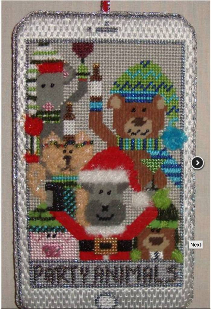 Party Animals Selfie Ornament - Not Stitched