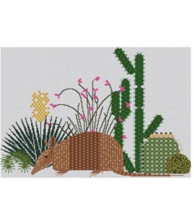 Armadillo and Cactus